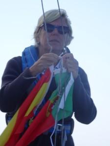 Portugese vlag hijsen