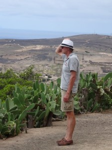 Uitkijken over het eiland